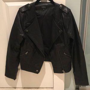 Topshop moto leather jacket